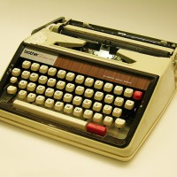 Janet Frame's typewriter at the North Otago Museum